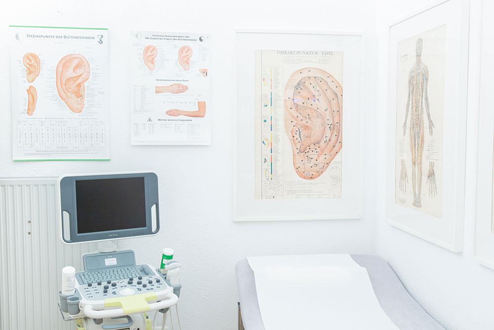 Akupunktur Rheinbach - Theobald / Kronhagel - Poster von Akupunkturstellen im Ohr